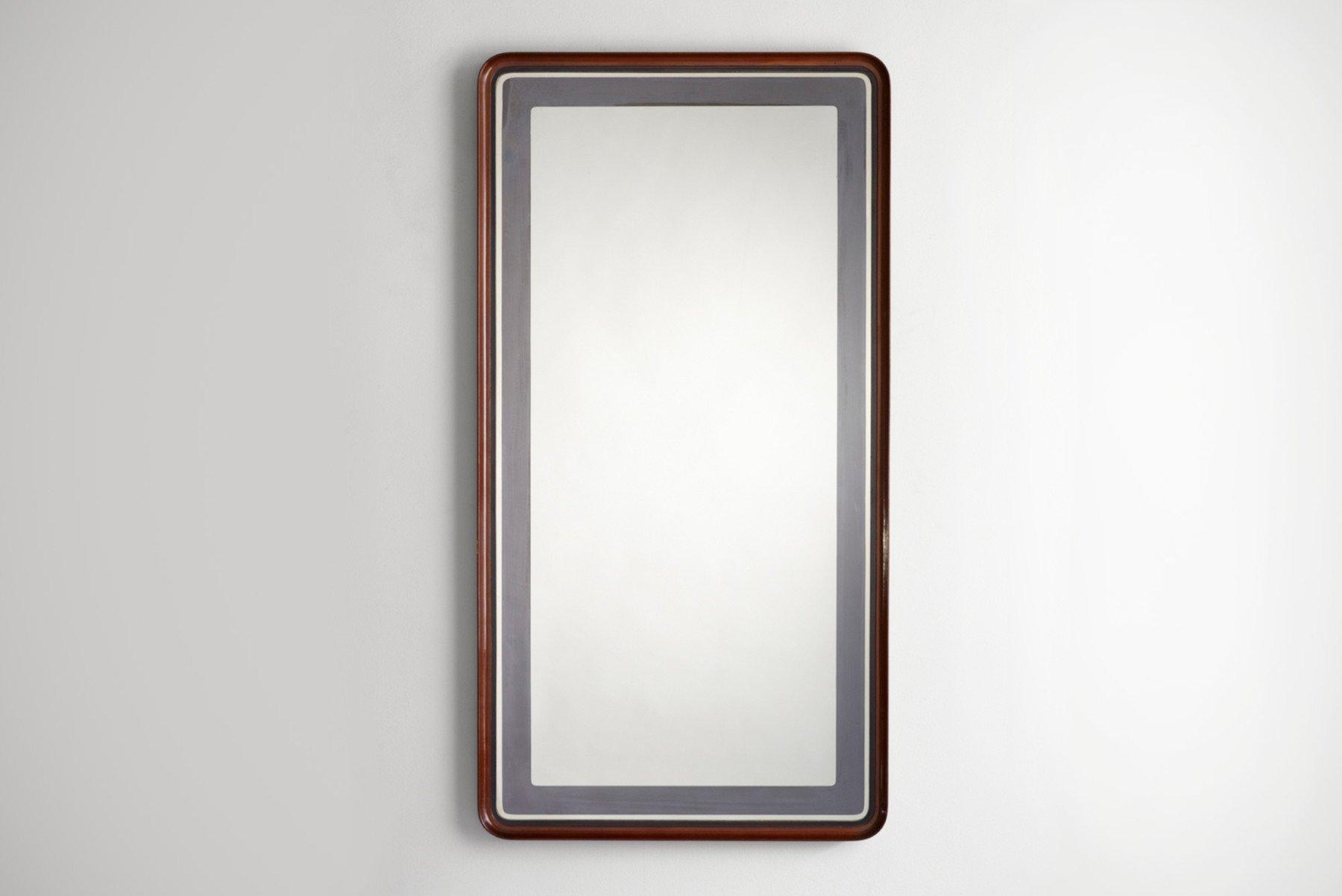 Fontana Arte |   Wooden frame mirror