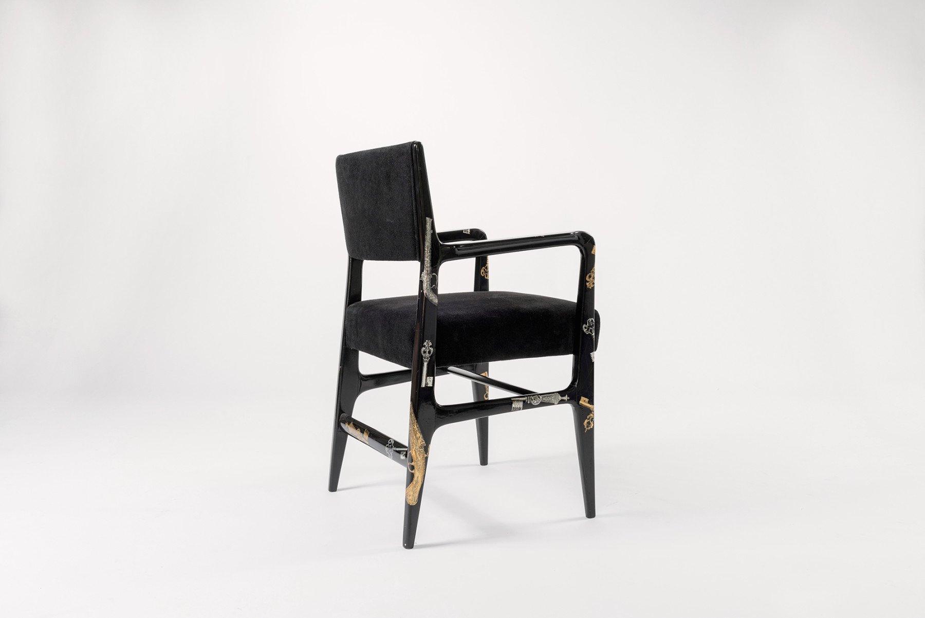 Gio Ponti and Piero Fornasetti |   Chiavi e pistole - chair