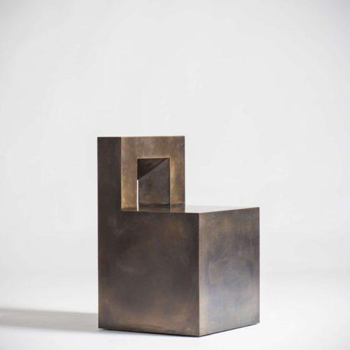 Jonathan Nesci - GV - bronze chair at design and furniture gallery Casati Gallery