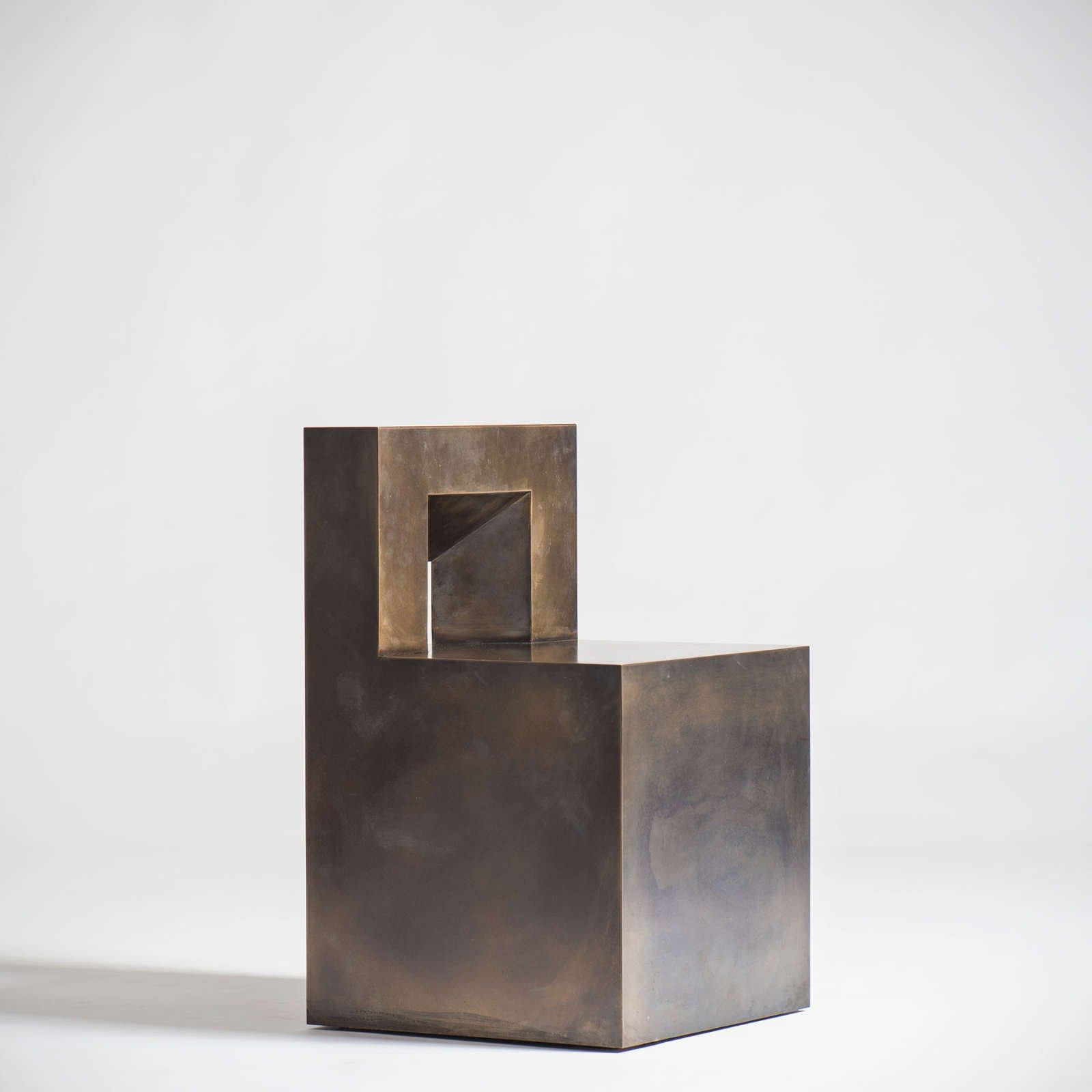 Jonathan Nesci - GV - bronze chair at design and furniture gallery Casati Gallery