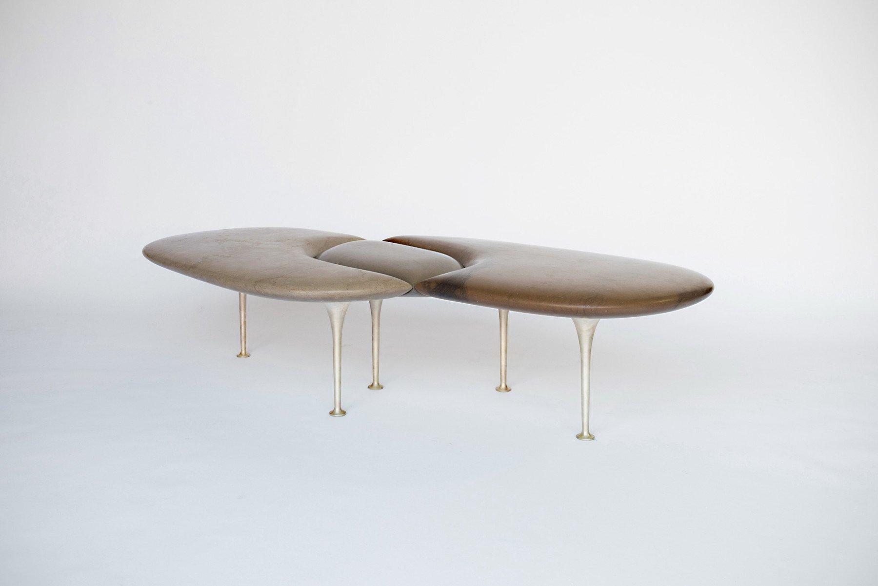 Philippe Nigro |                              Métissage - marble bench with legs