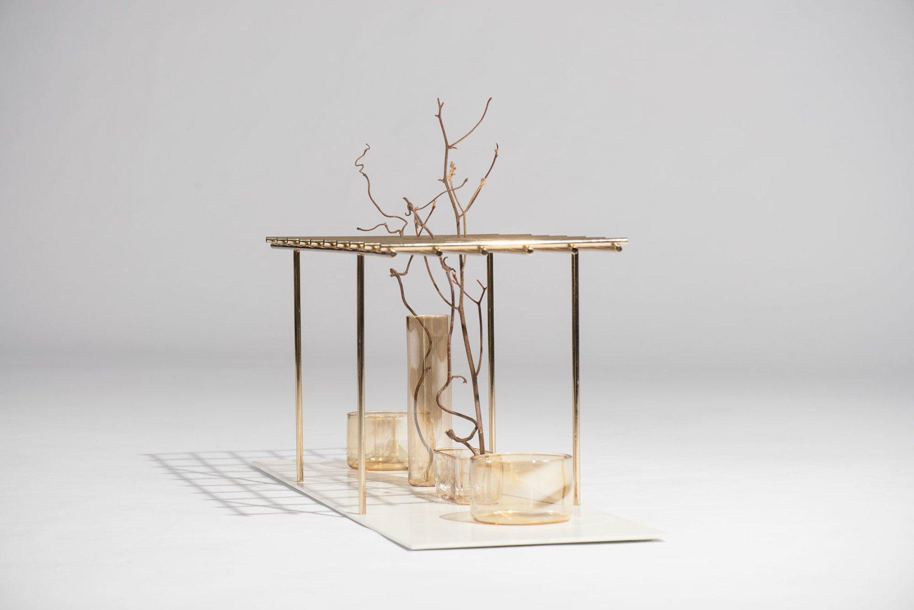Andrea Branzi |   Golden Gate - centerpiece, flower vase
