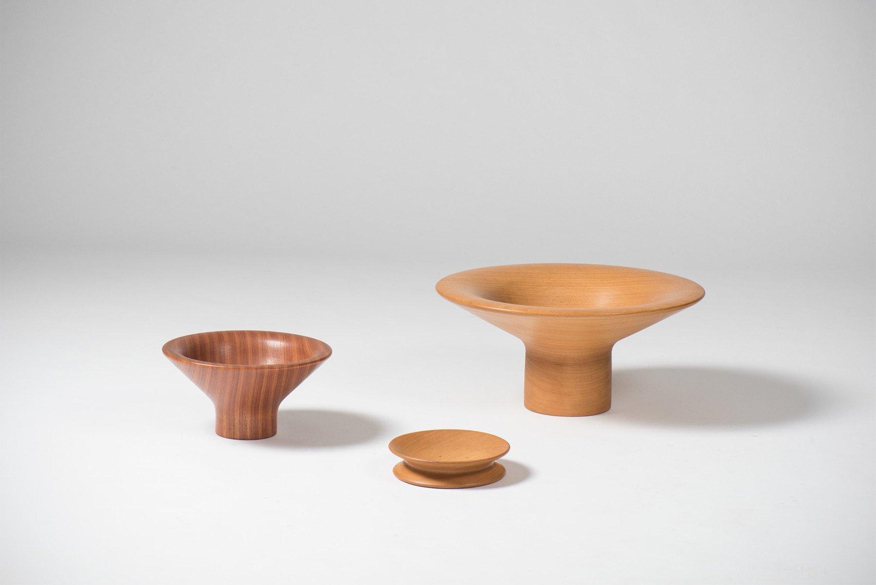 Angelo Mangiarotti |   Wooden objects, light wood
