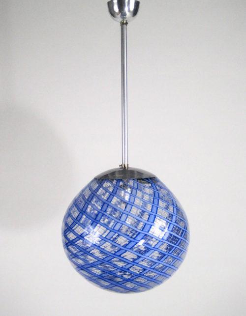 Carlo Scarpa attribution pendant Murano glass light at Italian design and furniture gallery Casati Gallery