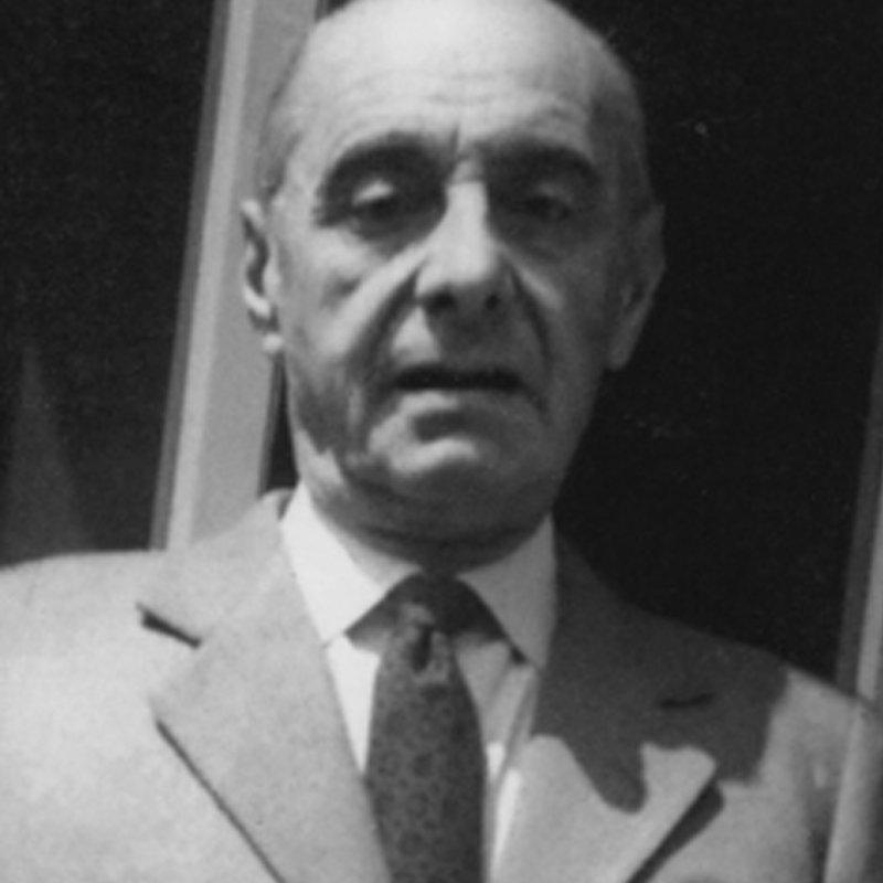 Picture of Italian architect Corrado Corradi Dell'Acqua looking into the camera