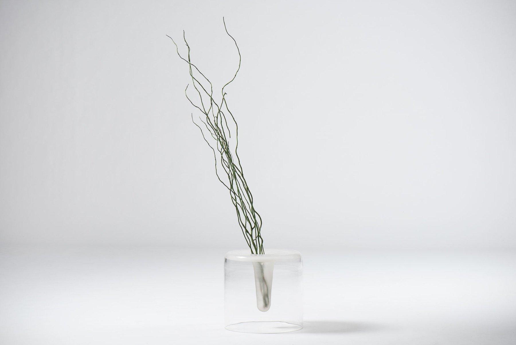 Fontana Arte     Glass basket or vase