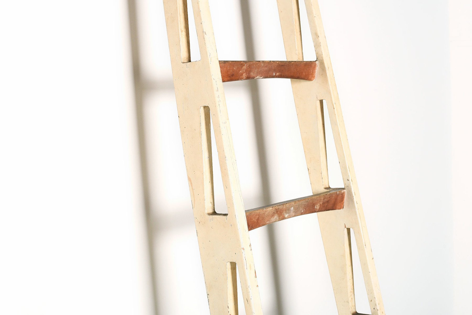 Franco Albini |   Rare and unique custom ladder for Villa Neuffer