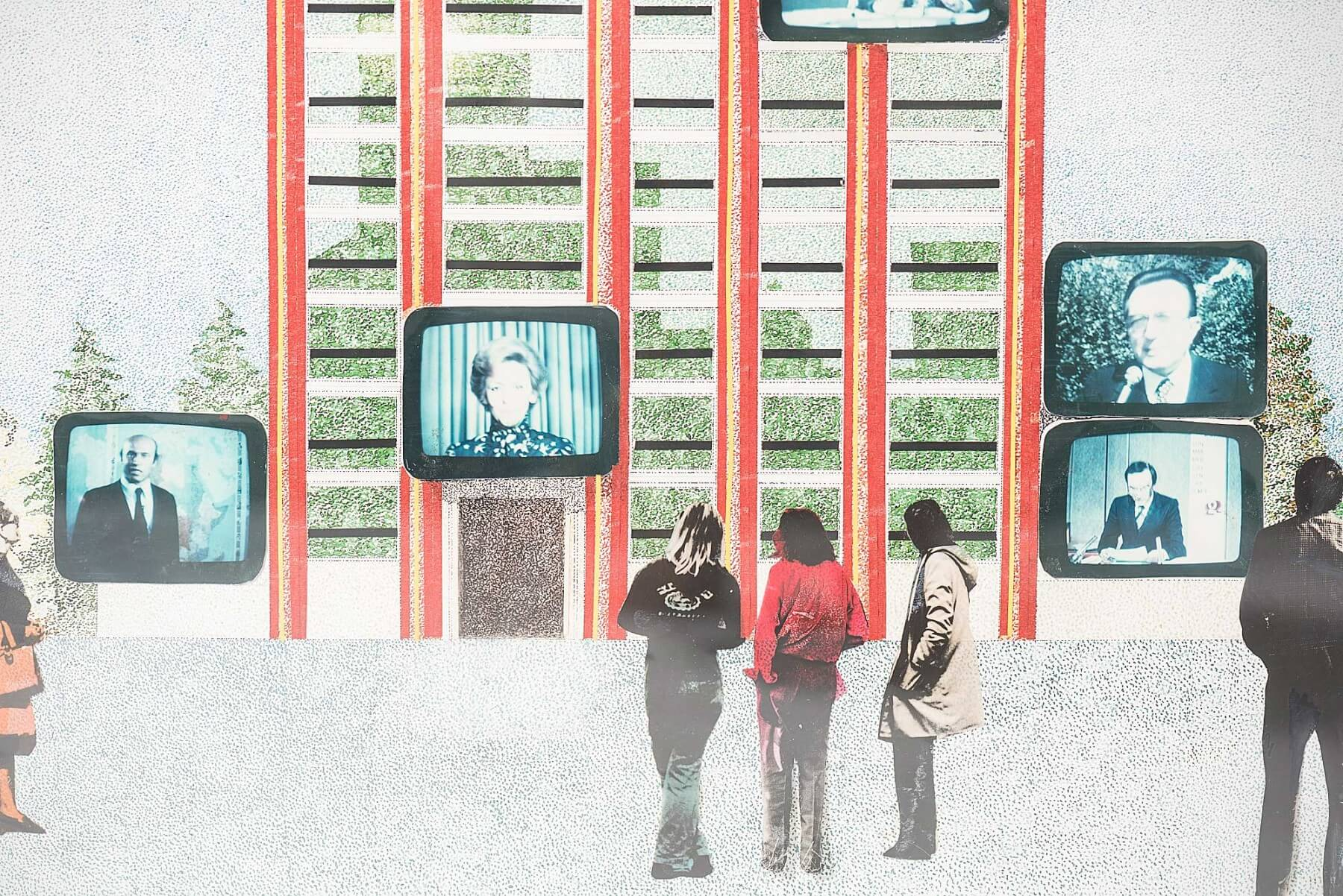 Ico Parisi |   Television as an architectonic sign - collage