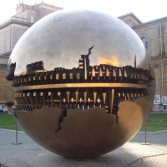 Sculpture by Italian abstract artist Giò Pomodoro