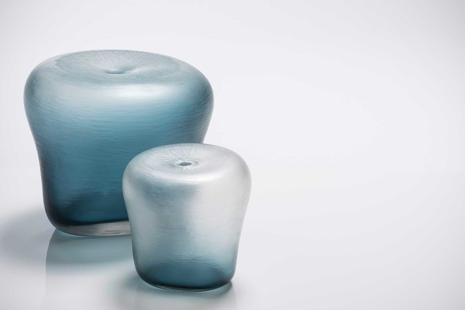 Michela Cattai |   Canneto Laguna - Oceano glass vases