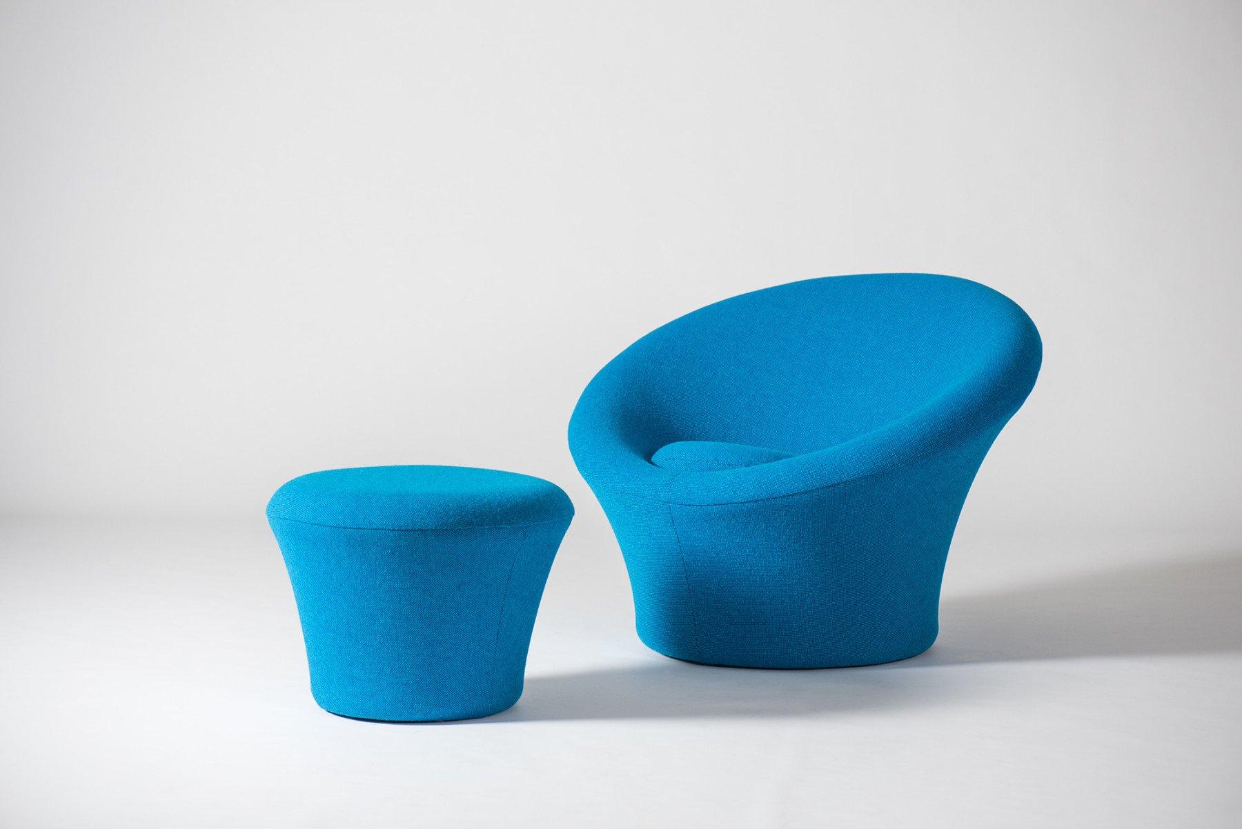 Pierre Paulin |   Mushroom chair and ottoman