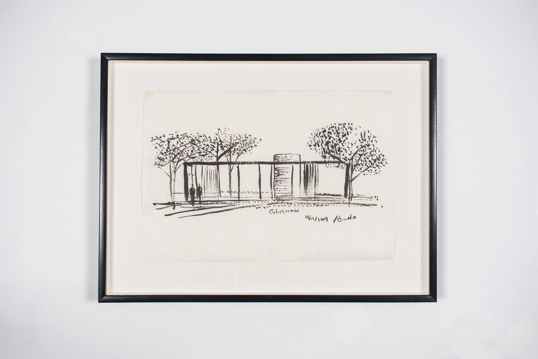 Tadao Ando     Drawing - 'Glass House'
