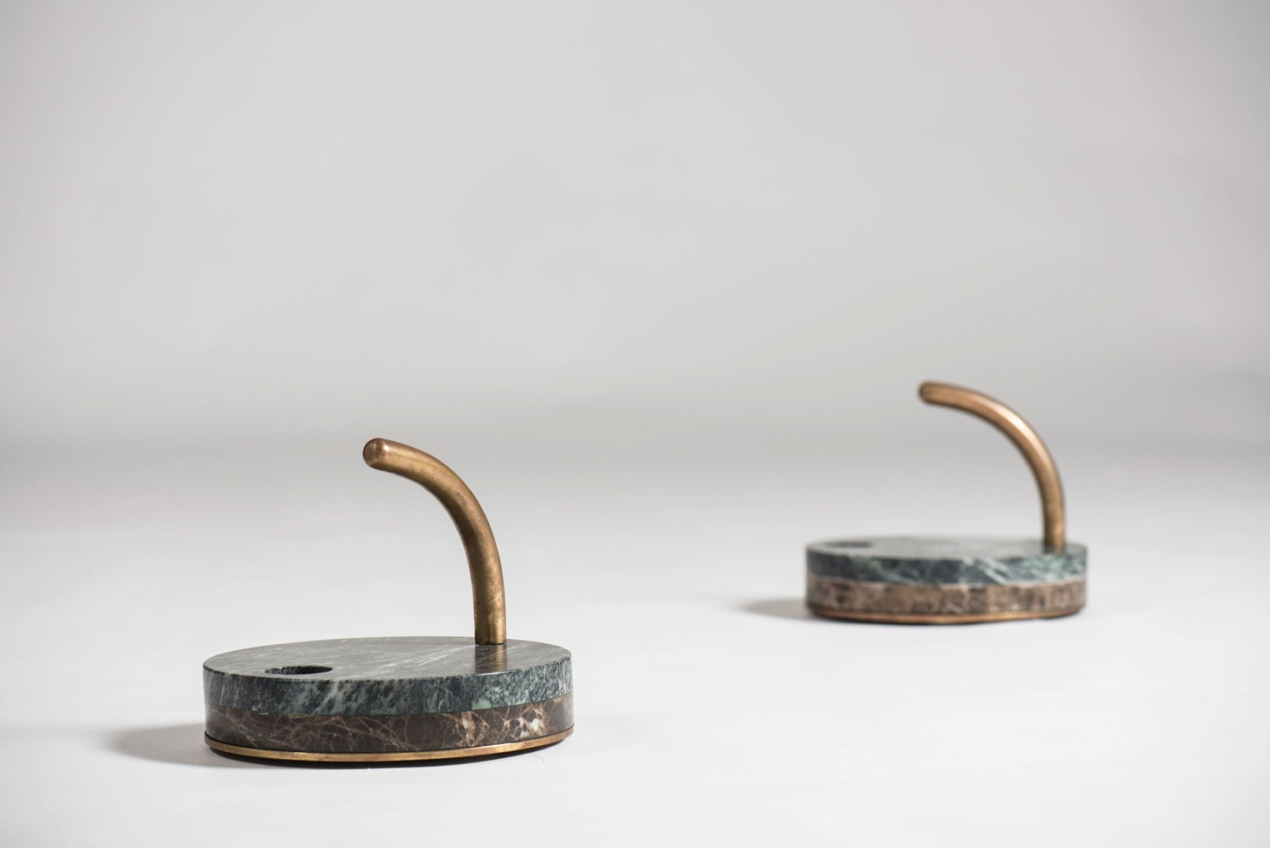 Unknown |   Italian marble candleholders - pair