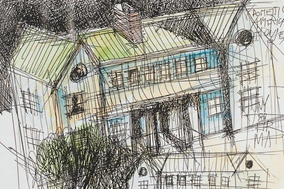 Aldo Rossi |   Drawing - Domestic American House