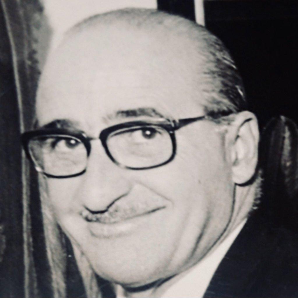 Portrait of Italian light designer Angelo Lelii or Angelo Lelli