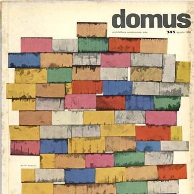 Domus Magazine cover of issue # 345