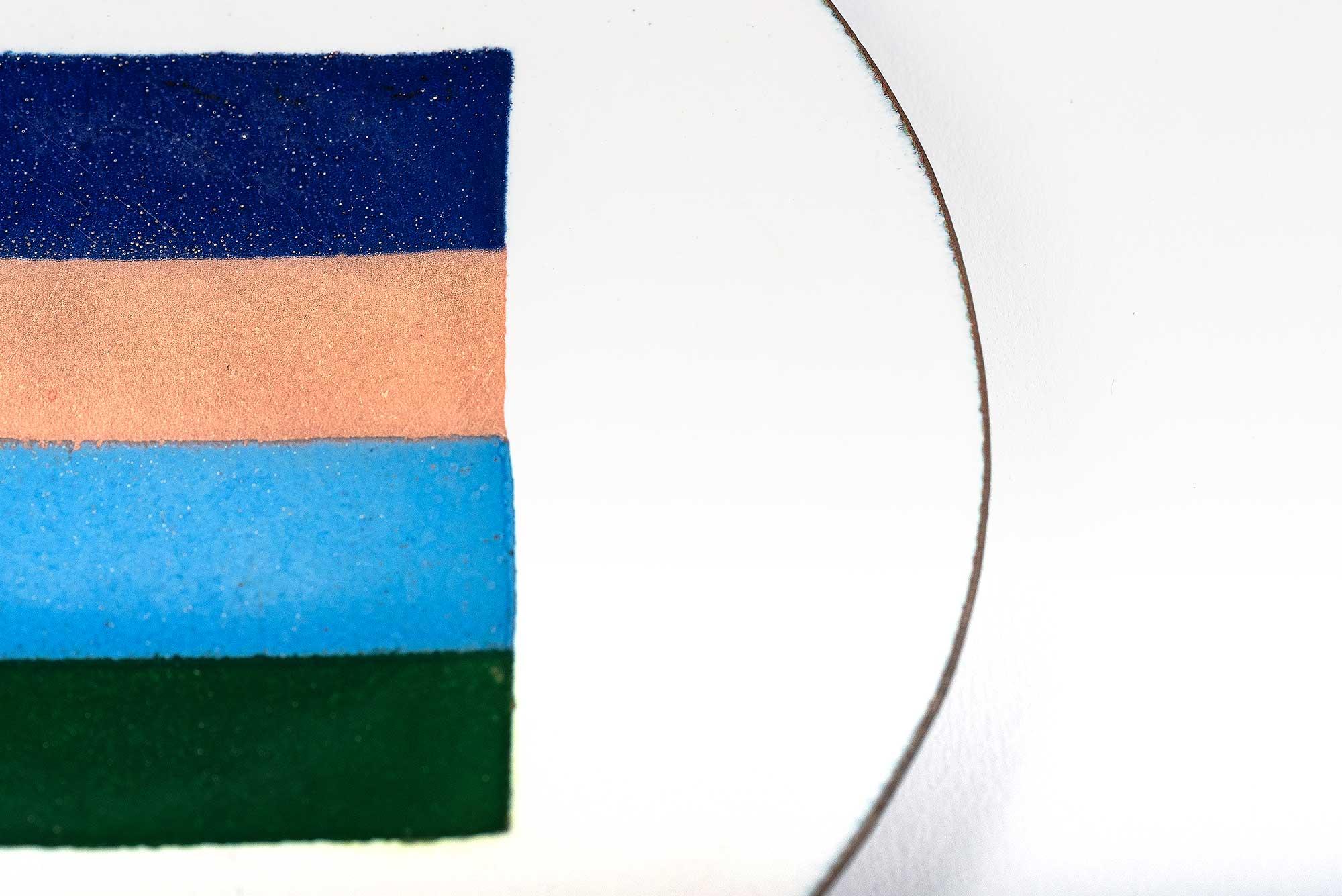 Ettore Sottsass |   Copper enamel dish for il Sestante