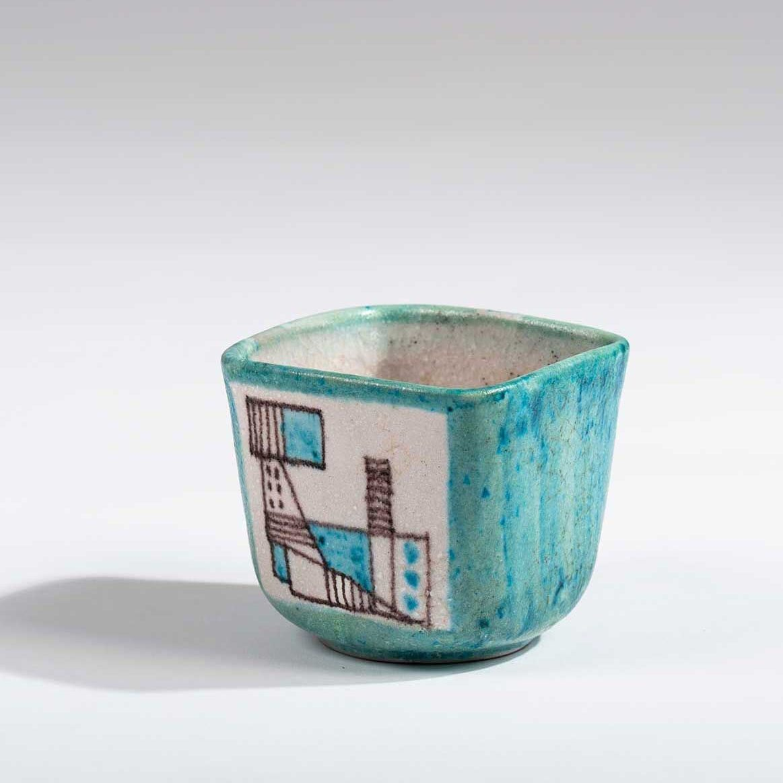 Vase by Italian ceramicist Guido Gambone