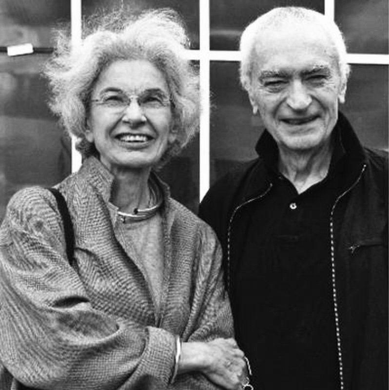 Portrait of Italian designers Massimo & Lella Vignelli