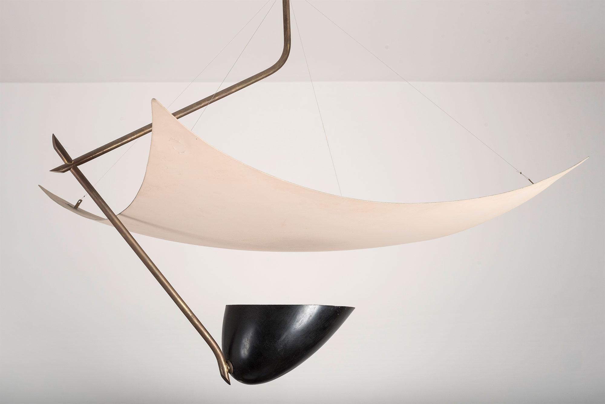 Angelo Lelii |   Ceiling lamp mod. 12385 'Vela'