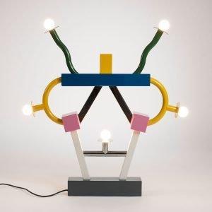 Ettore Sottsass Ashoka table lamp by Memphis Milano at design and art gallery Casati Gallery