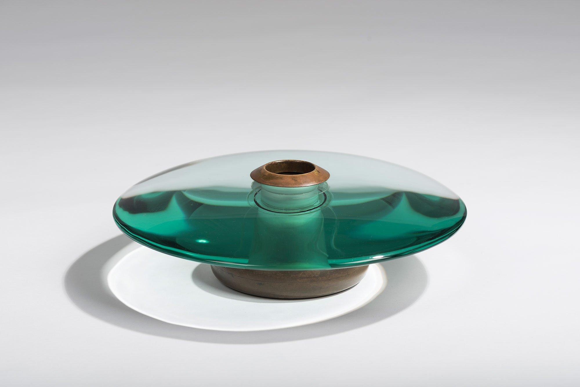 Fontana Arte |   Glass and brass vase
