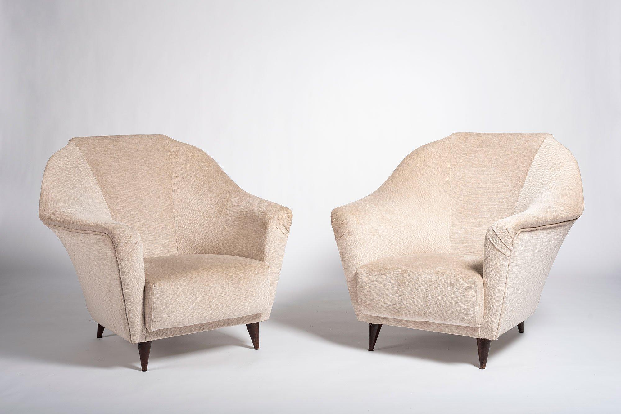Ico Parisi |   Pair of armchairs