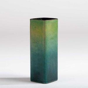 Italian designer Paolo de Poli green enameled vase at design and furniture gallery Casati Gallery