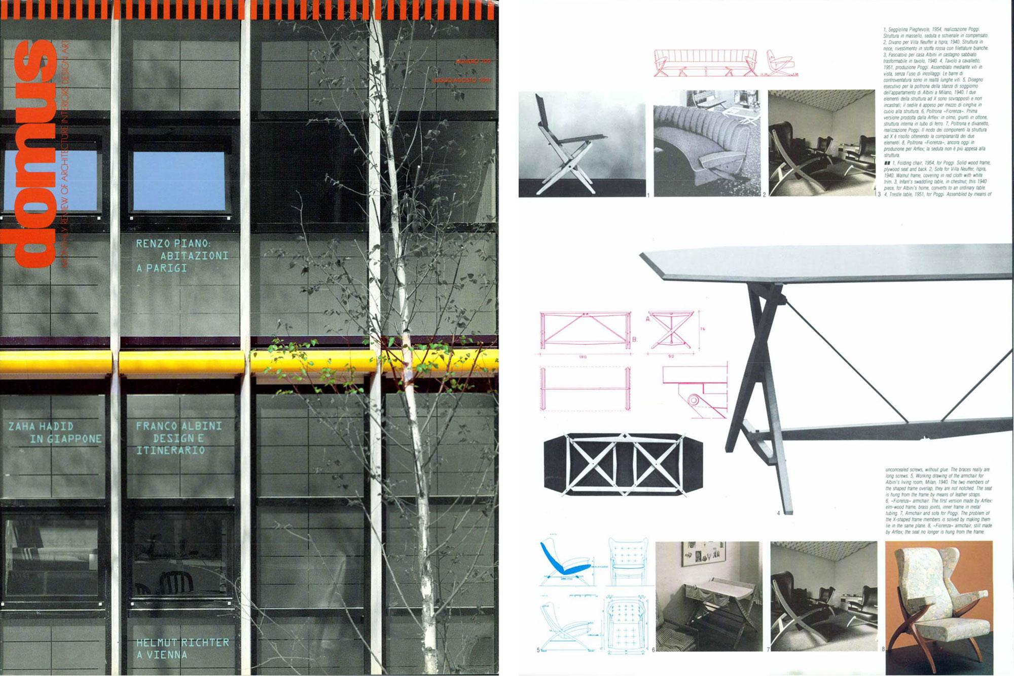 Franco Albini |   Walnut desk