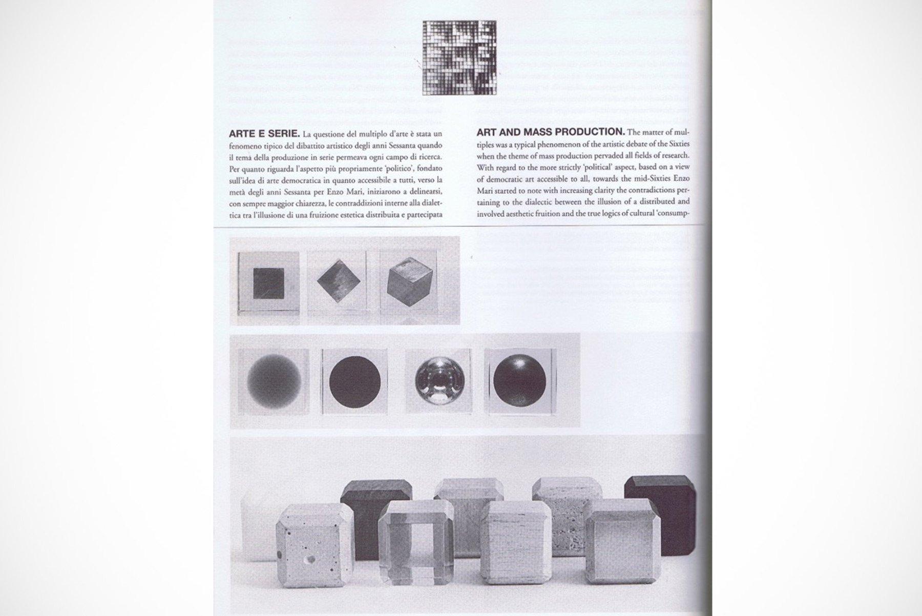 Enzo Mari |   Scatola Nove Materiali, Progetto 450