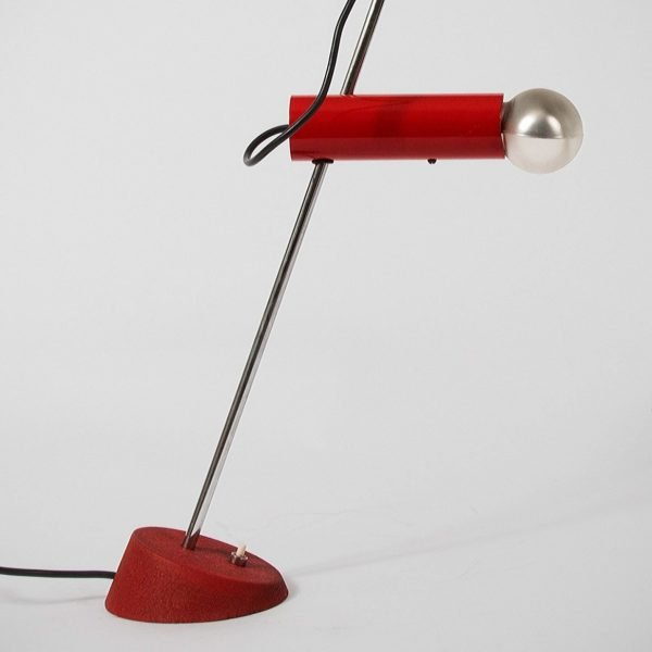 Gino Sarfatti |                                  Red table lamp, model 566