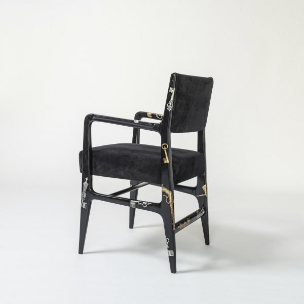 Gio Ponti and Piero Fornasetti |                                  Chiavi e pistole - chair