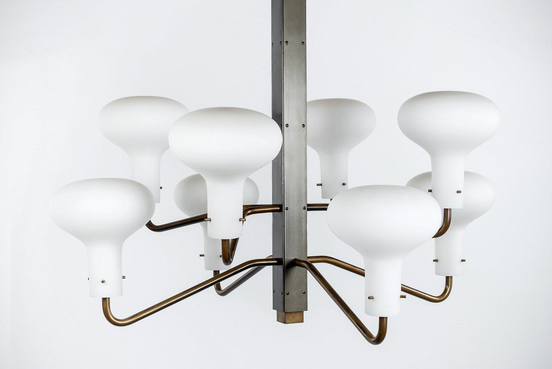 Ignazio Gardella |                              Eight-arm chandelier