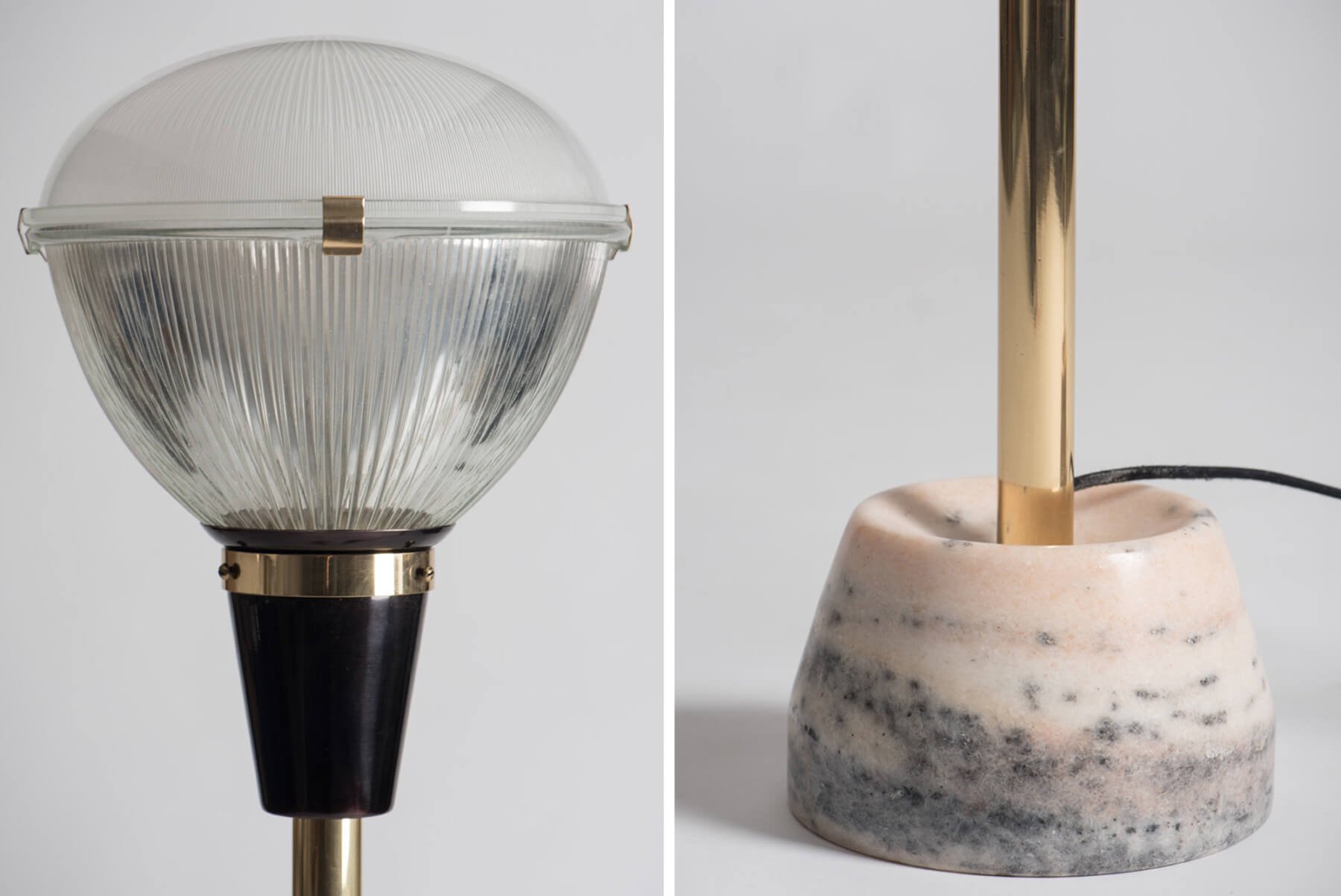 Ignazio Gardella |   Floor lamps model Lte 7, Coppa Chiusa