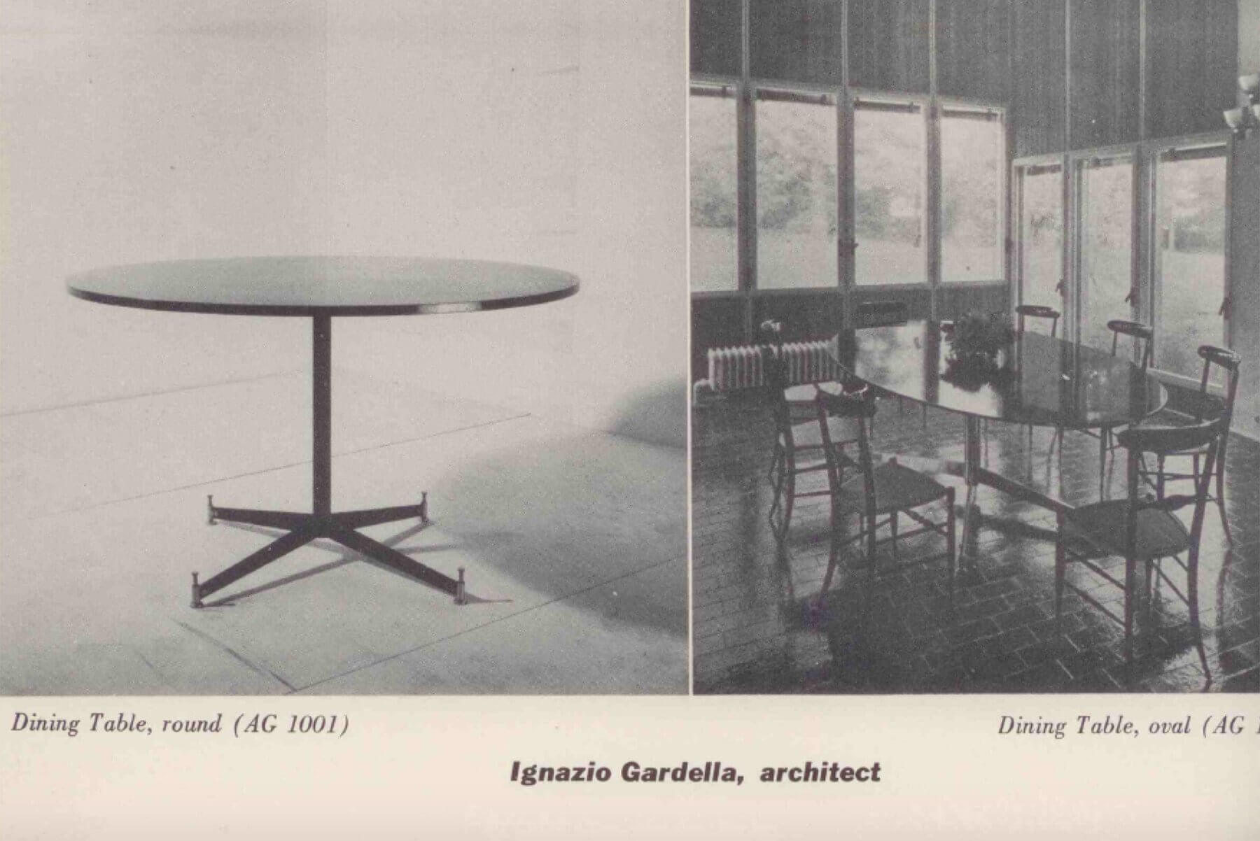 Ignazio Gardella |  Dining table with an oval top, T 2