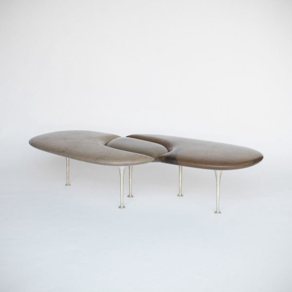 Philippe Nigro |                                  Métissage - marble bench with legs