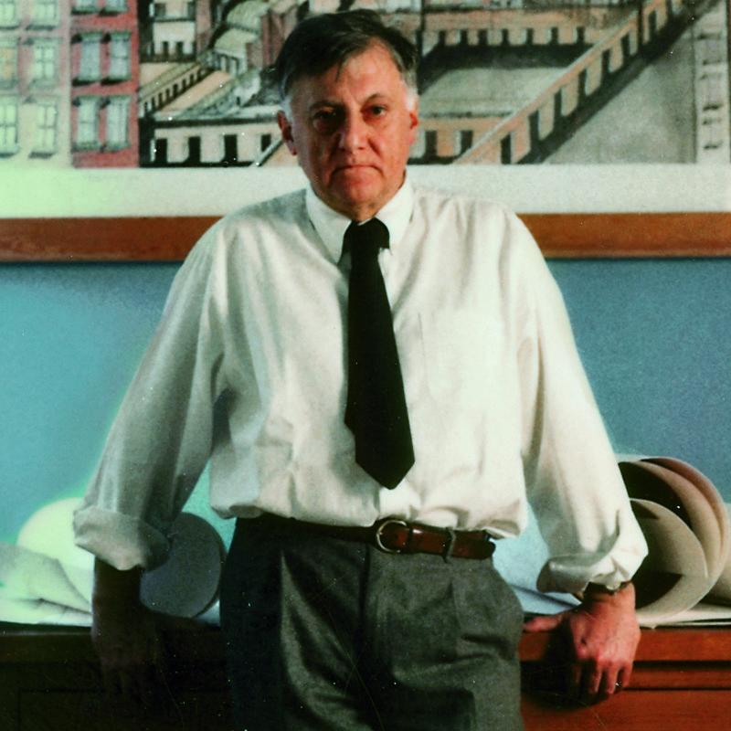 Portrait of Italian architect Aldo Rossi