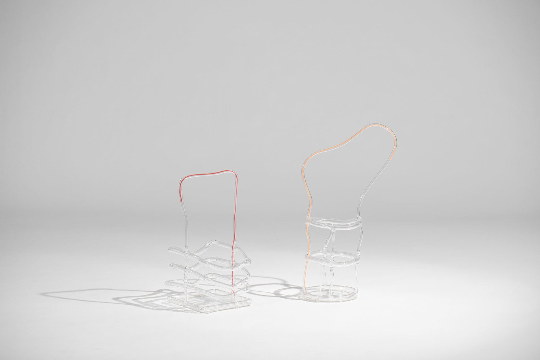 Andrea Branzi  |   Orange Canaries - glass basket