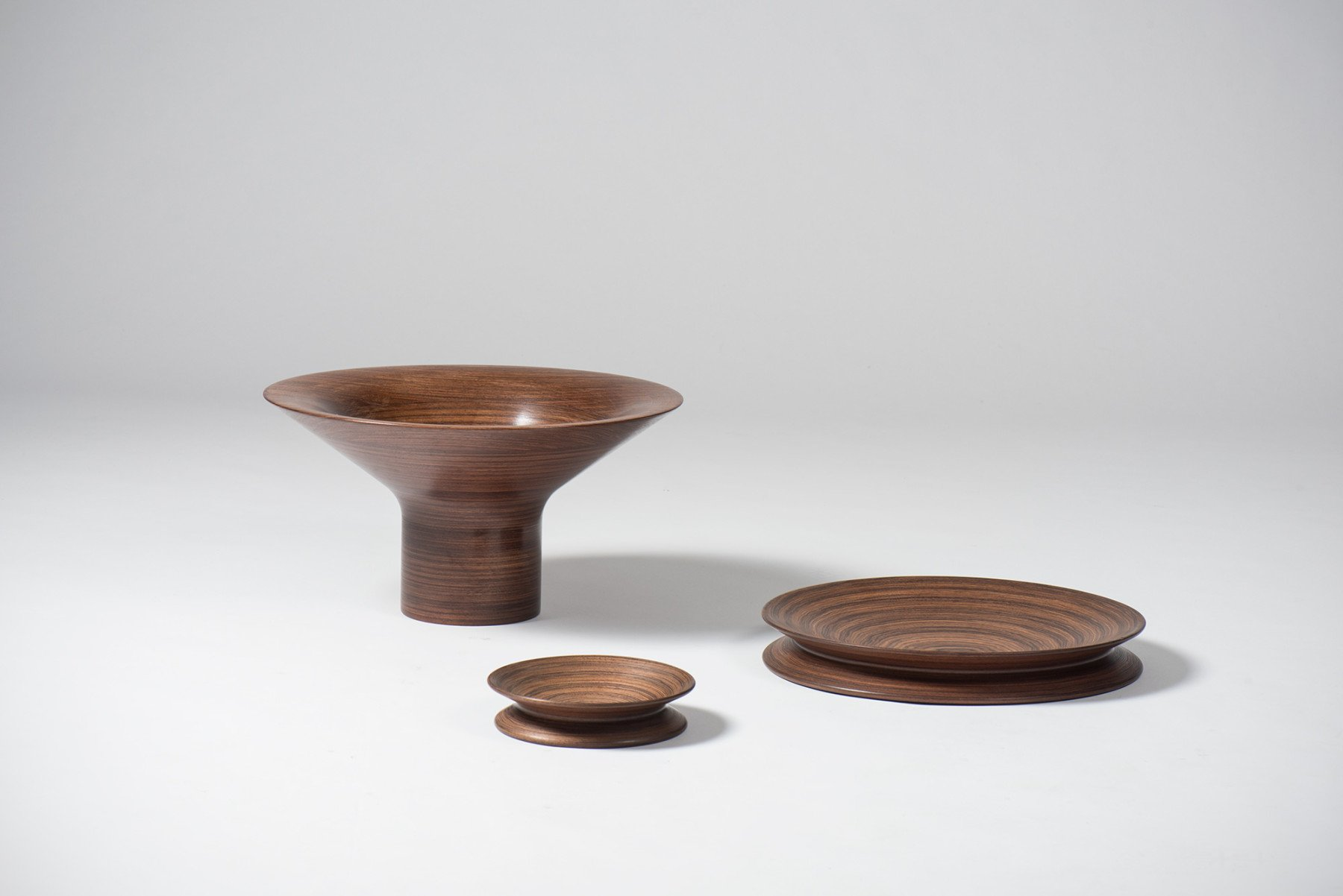 Angelo Mangiarotti |                              Wooden objects, dark wood