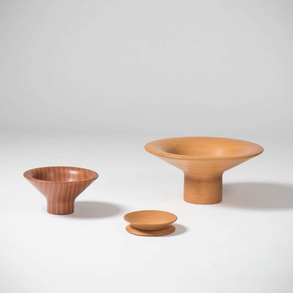 Angelo Mangiarotti |                                  Wooden objects, light wood