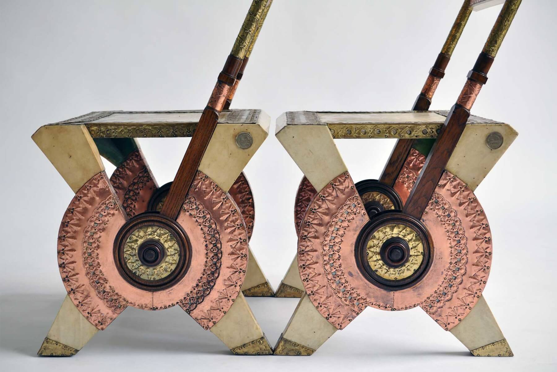 Carlo Bugatti |  Pair of chairs