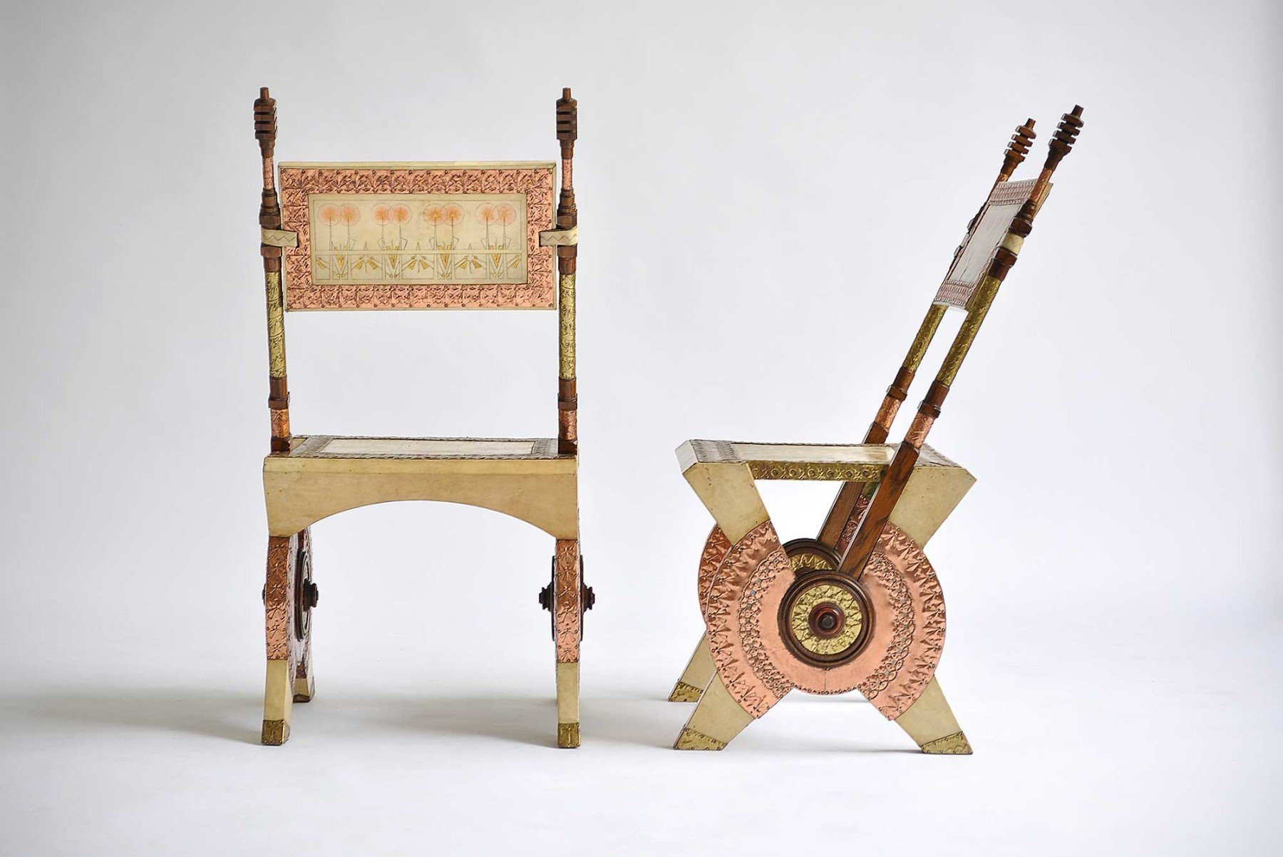 Carlo Bugatti |   Pair of chairs