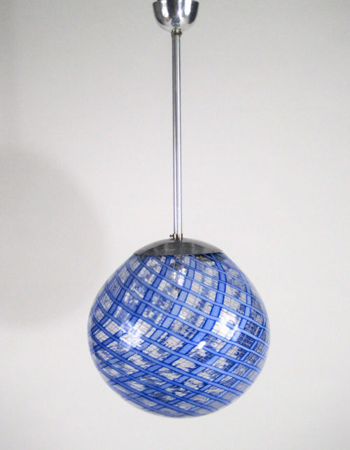 Carlo Scarpa attribution pendant Murano glass light at Italian design and furniture gallery Casati Gallery