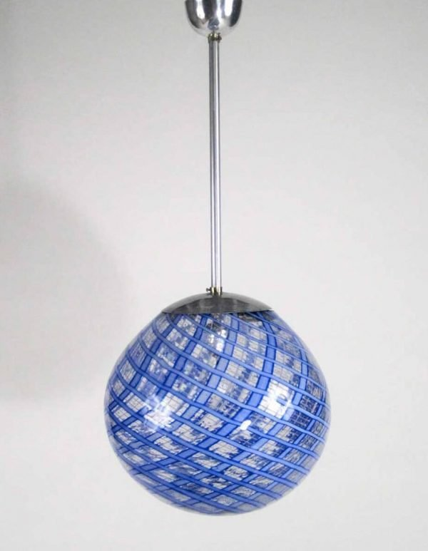 Carlo Scarpa Attribution - pendant light, Hand-blown glass, aluminum, brass
