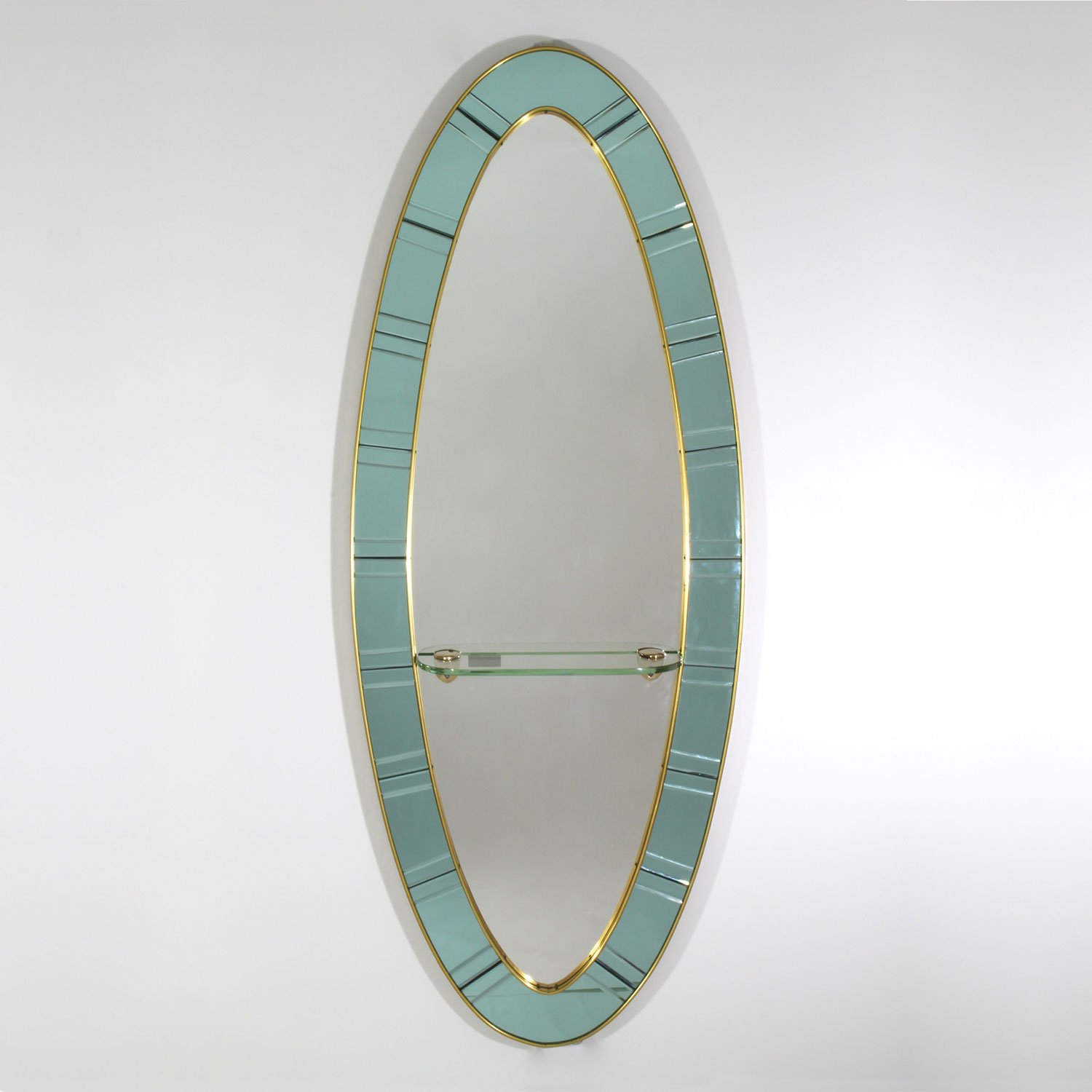 Cristal Art Oval mirror at design and furniture gallery Casati Gallery