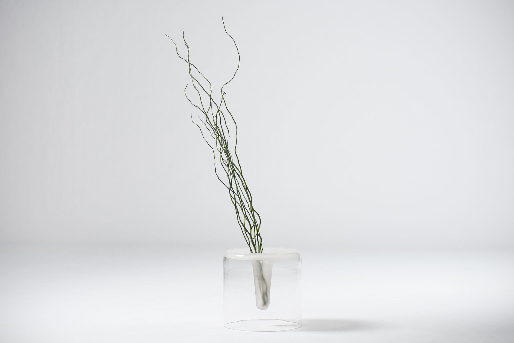 Fontana Arte |                              Glass basket or vase