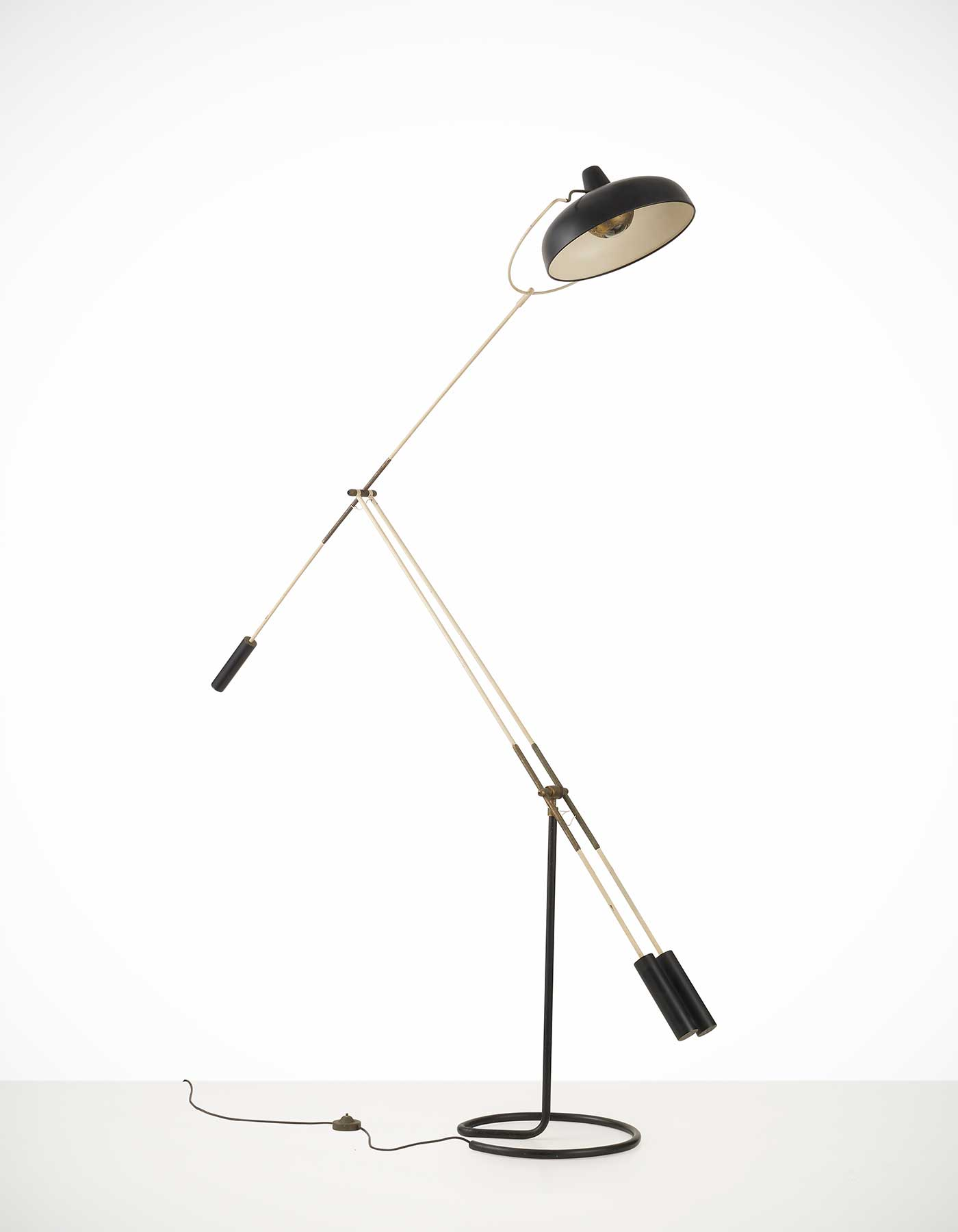 Franco Giovanni Legler |  Floor lamp with tilting arm