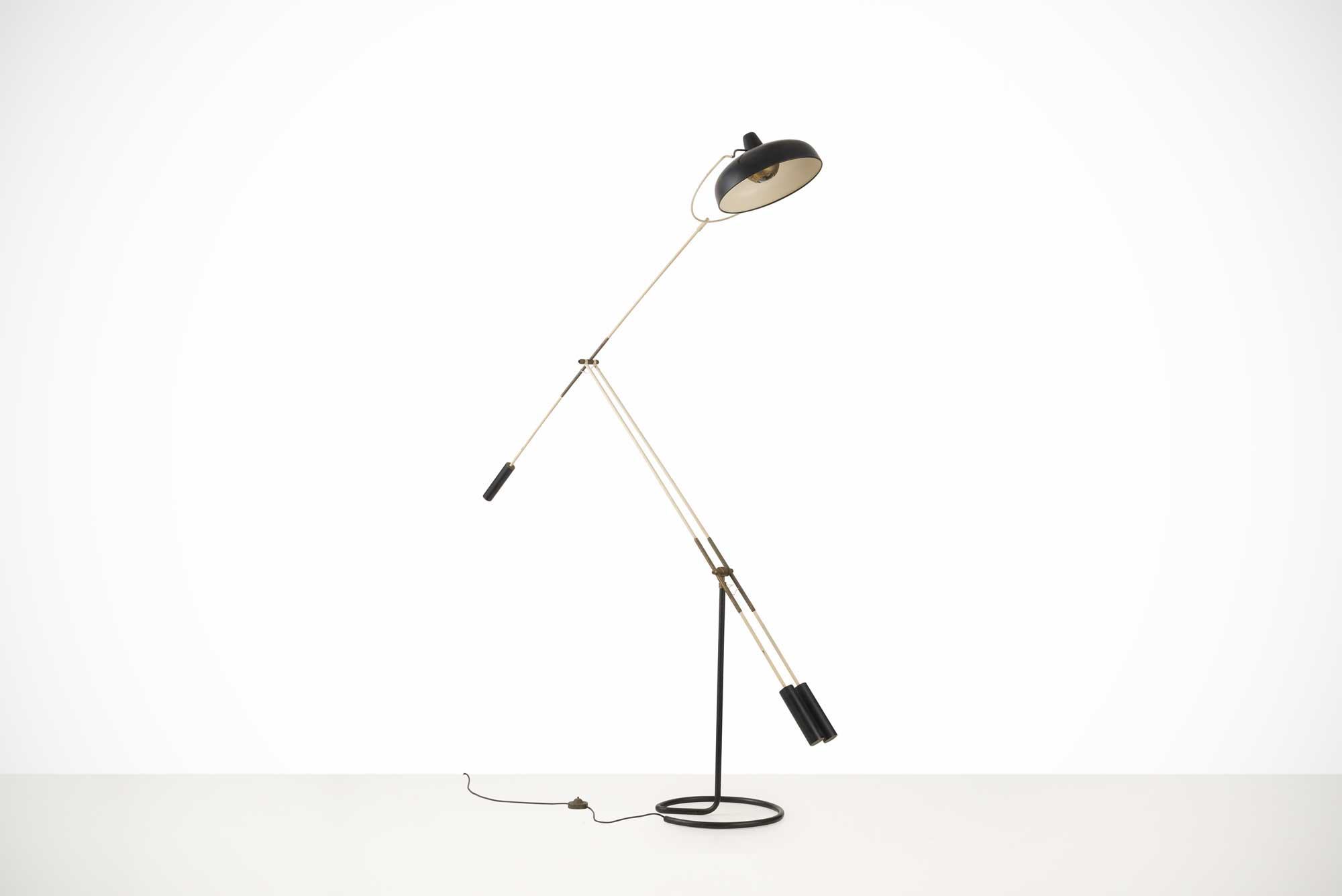 Franco Giovanni Legler |  Floor lamp with tilting arm