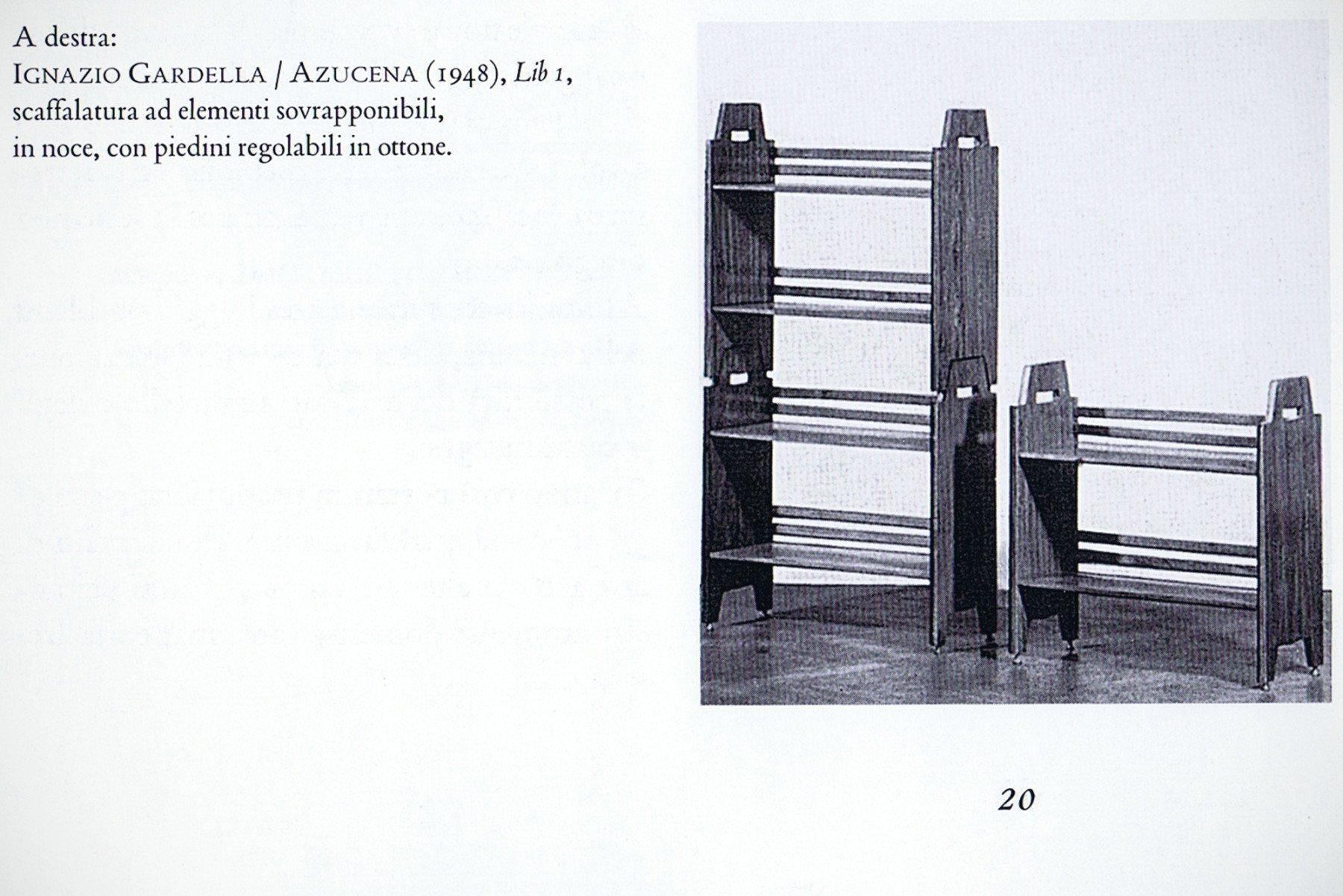 Ignazio Gardella |  Shelving unit model lib 1