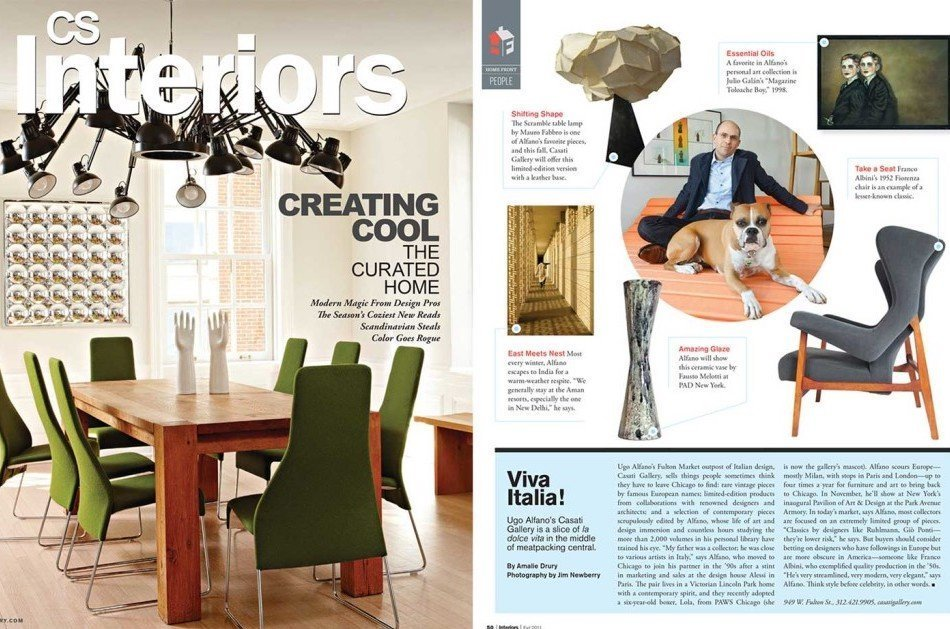 Interiors magazine with Ugo Alfano Casati